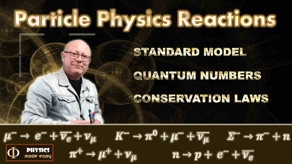 Particle Physics Reactions: a mini-course in particle physics for high school students