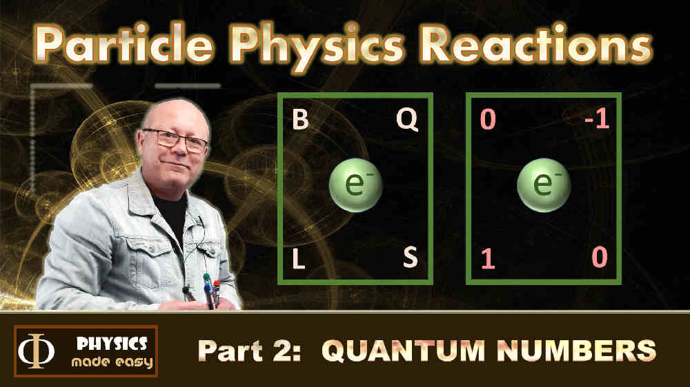 Quantum Numbers: a lesson in particle physics for high school students