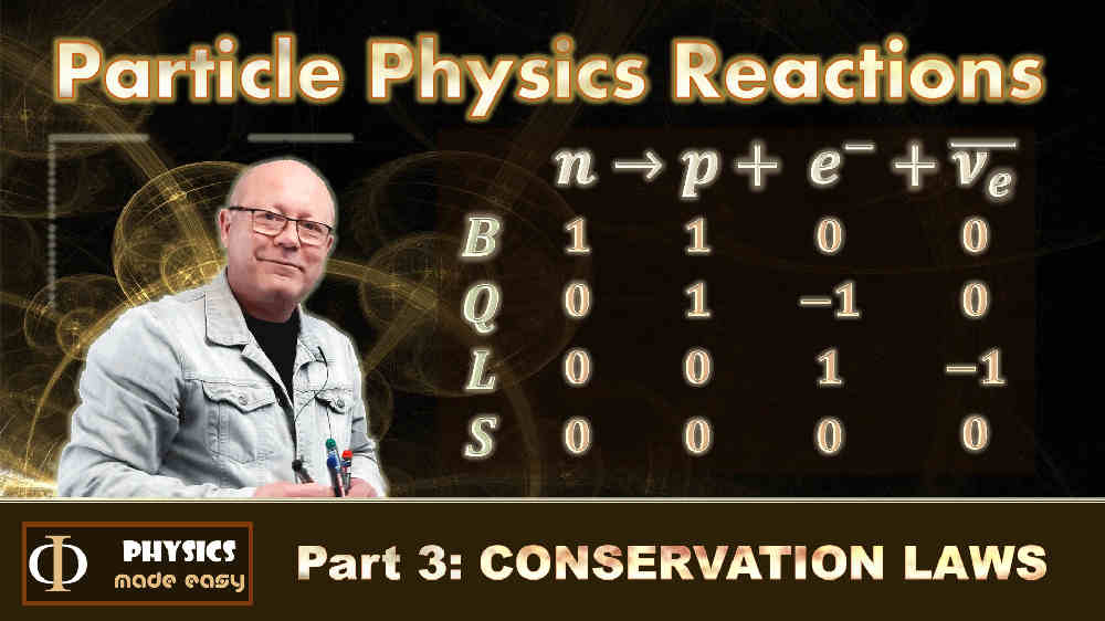 Conservation Laws: a lesson in particle physics for high school students