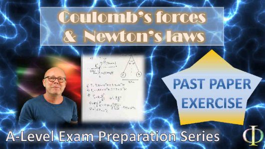 Coulomb's Force and Newton's Laws (High School Physics)